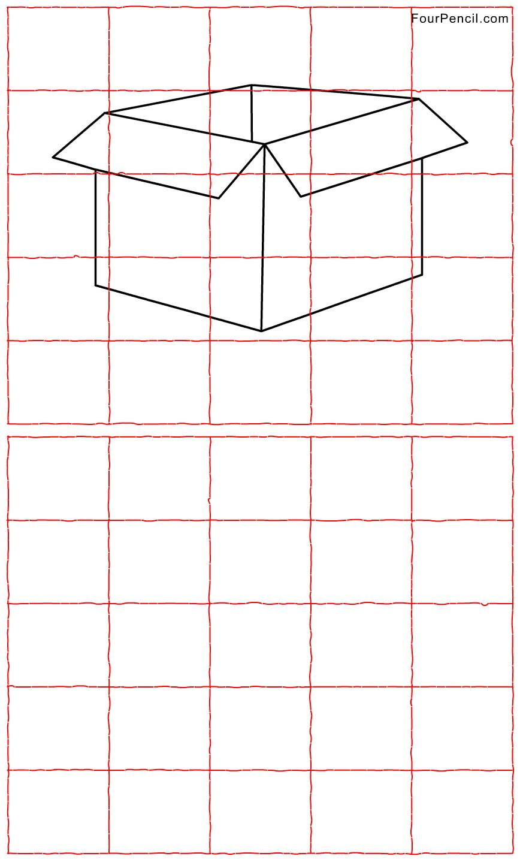 Art Grid Drawing Worksheets Free Printable Package Grid Line