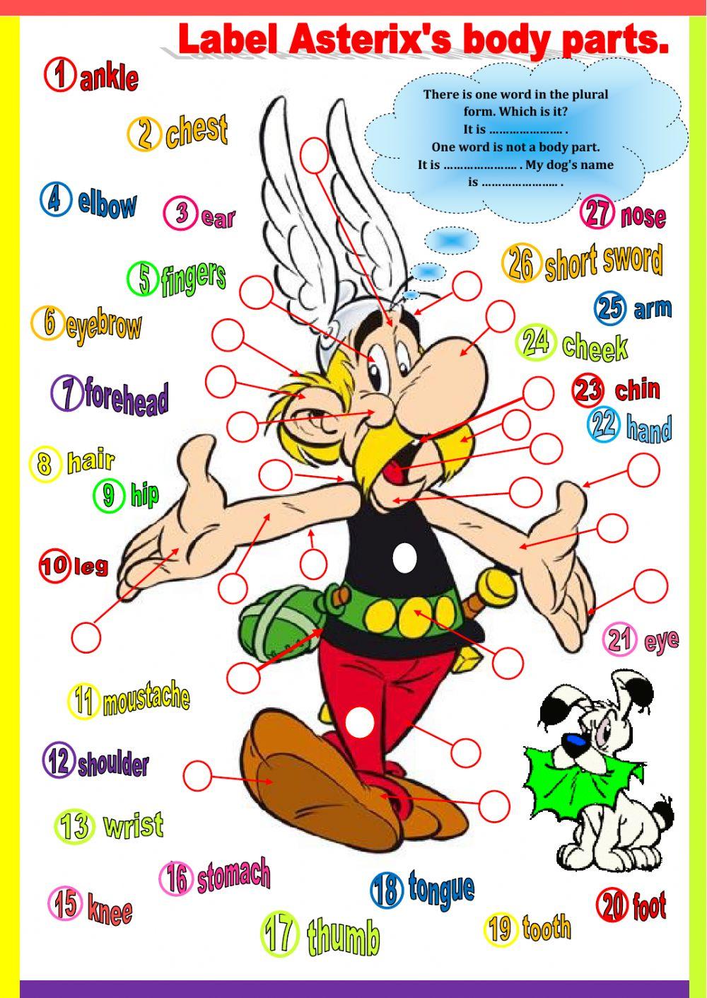 Asterix's Body Parts