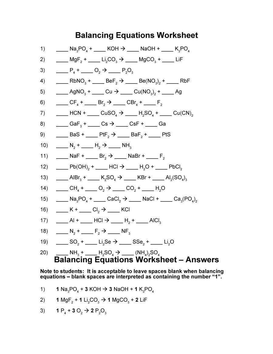Balancing Equations 04