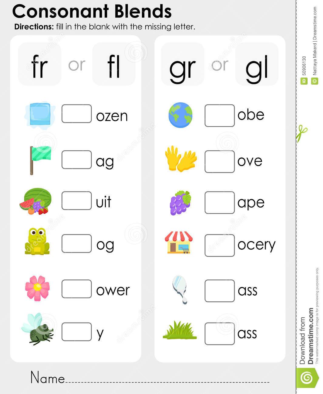 Beginning Blends Worksheets Free Worksheets Library
