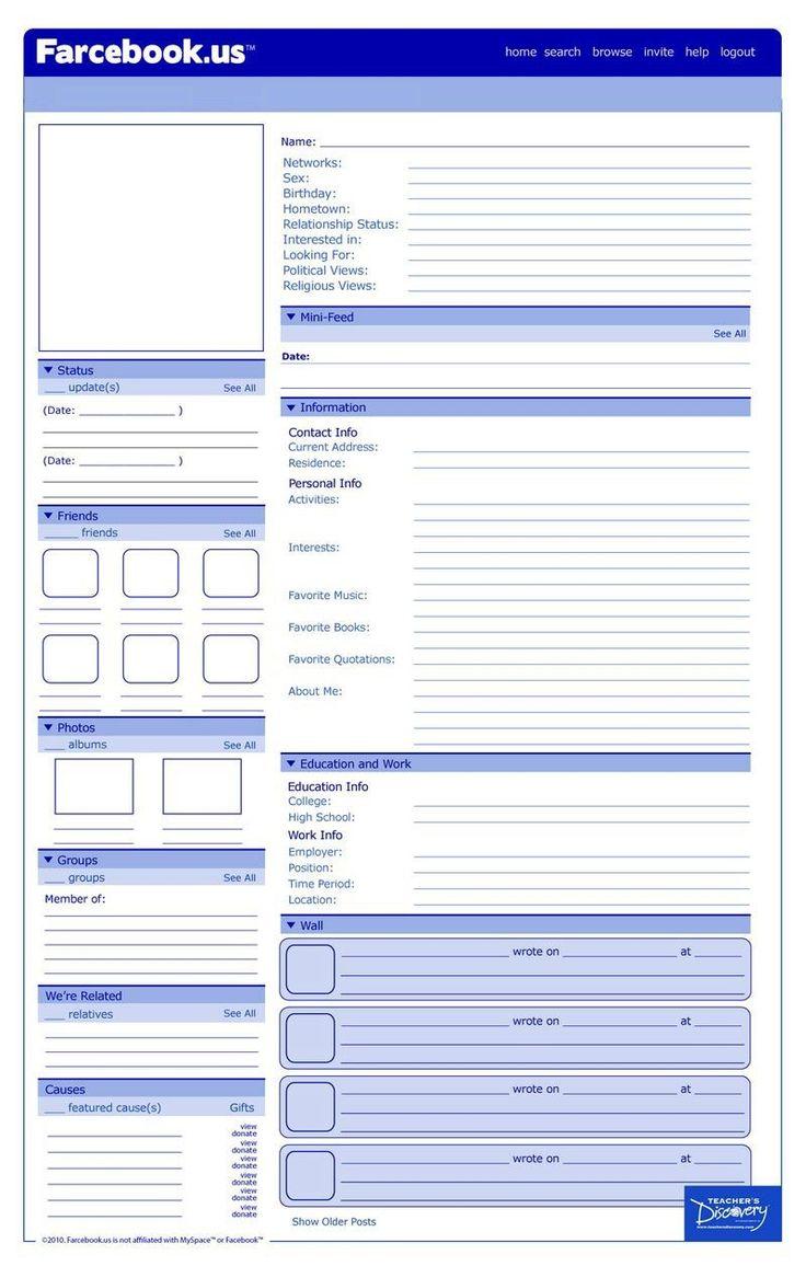 Best 25+ Facebook Profile Template Ideas On Worksheets Samples
