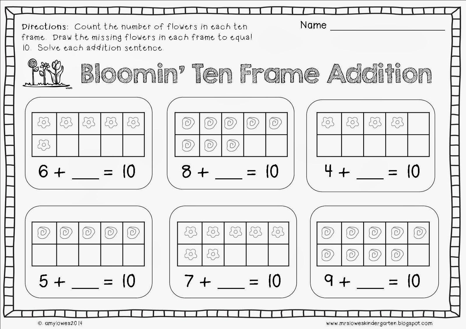 Bunny Time Ten Frame Free Printables Teaching Heart Blog