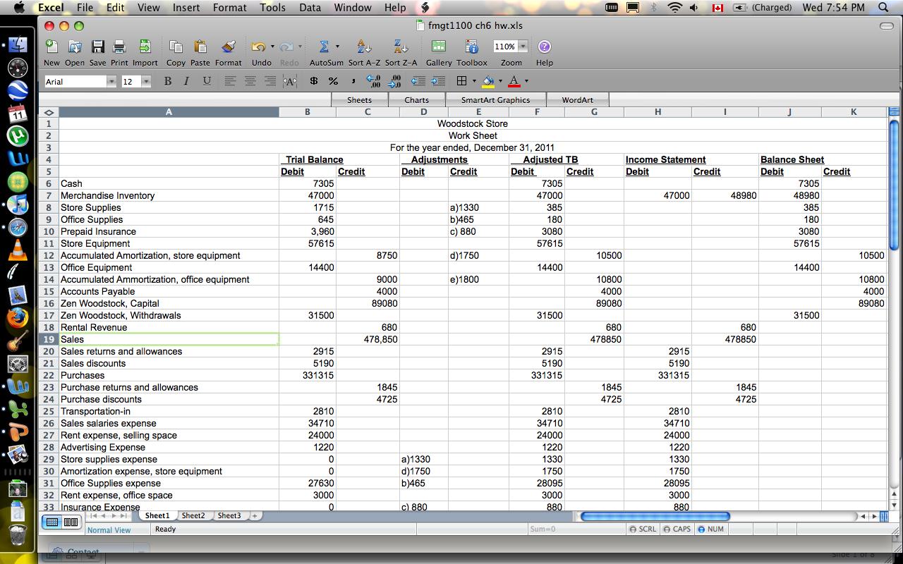 Cash Flow Statement Worksheet Income Statement Worksheet Income