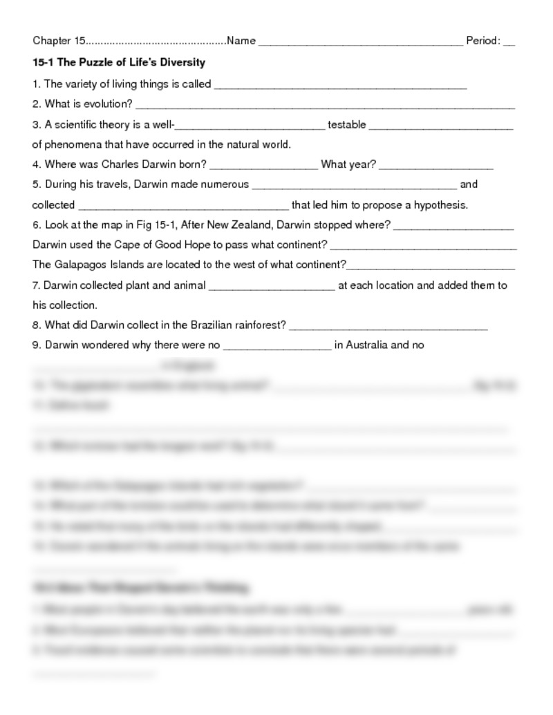 Chapter 15 Worksheet (1) Pdf