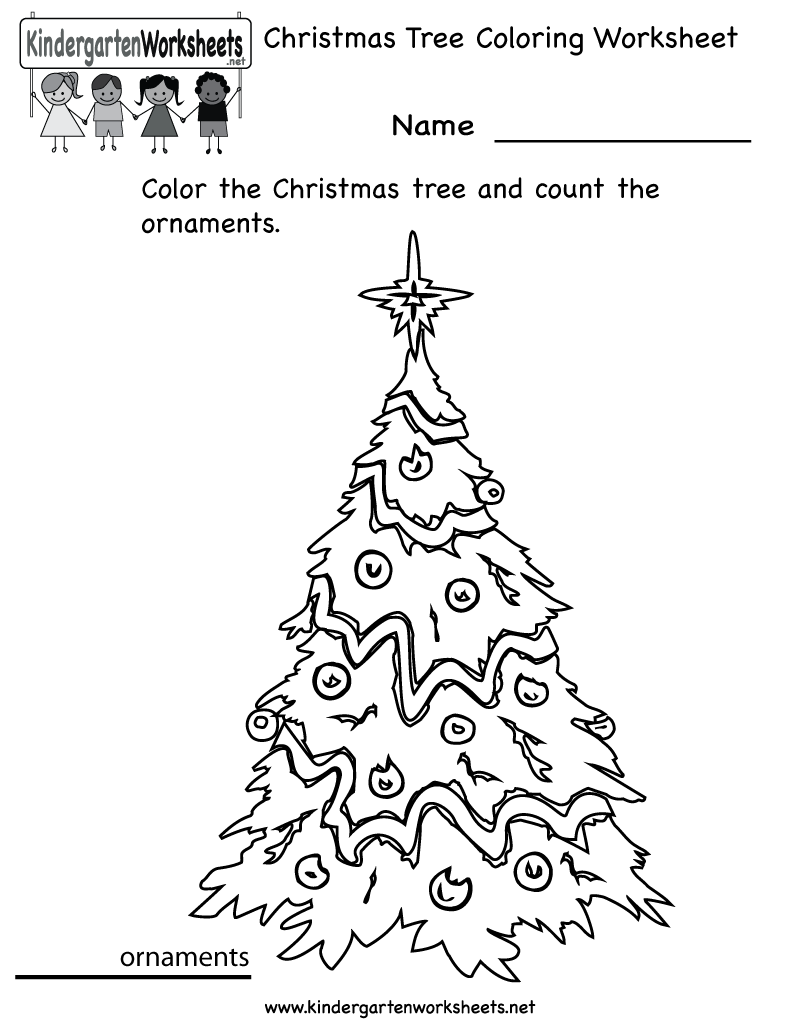 Christmas Tree Worksheet Printable – Fun For Christmas
