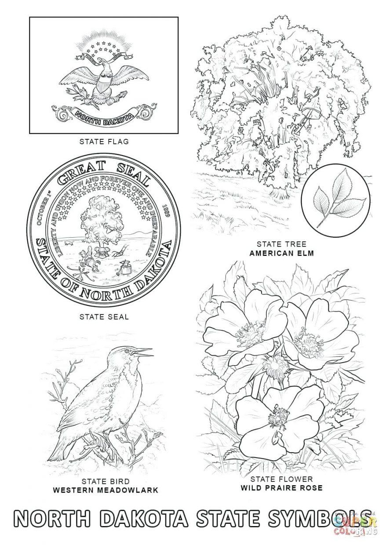 Click The North State Symbols 81 Glamorous America Printable