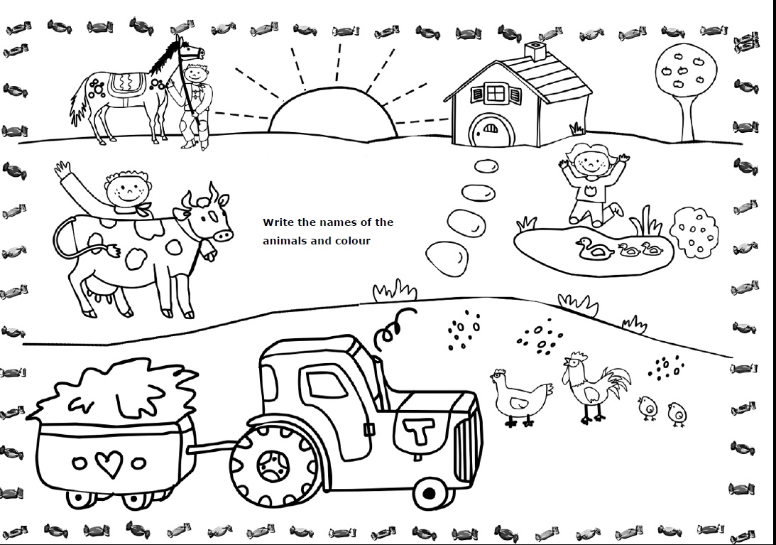 Coloring   Coloring Farm Animals Colouring Park Akademi Worksheets