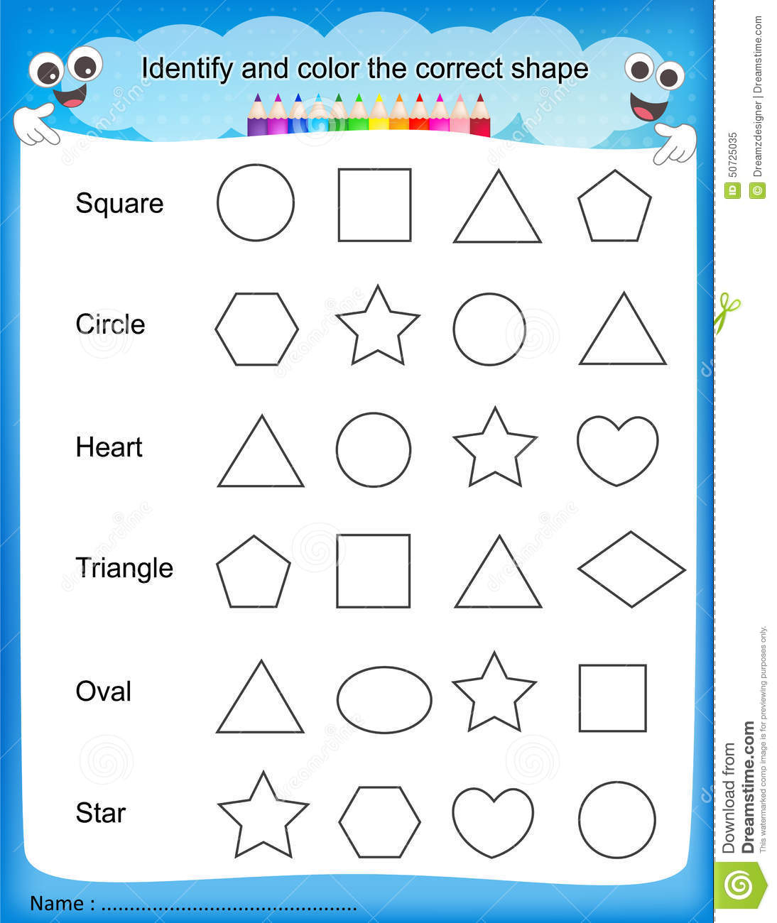 Colours Worksheet For Kindergarten에 대한 이미지 검색결과