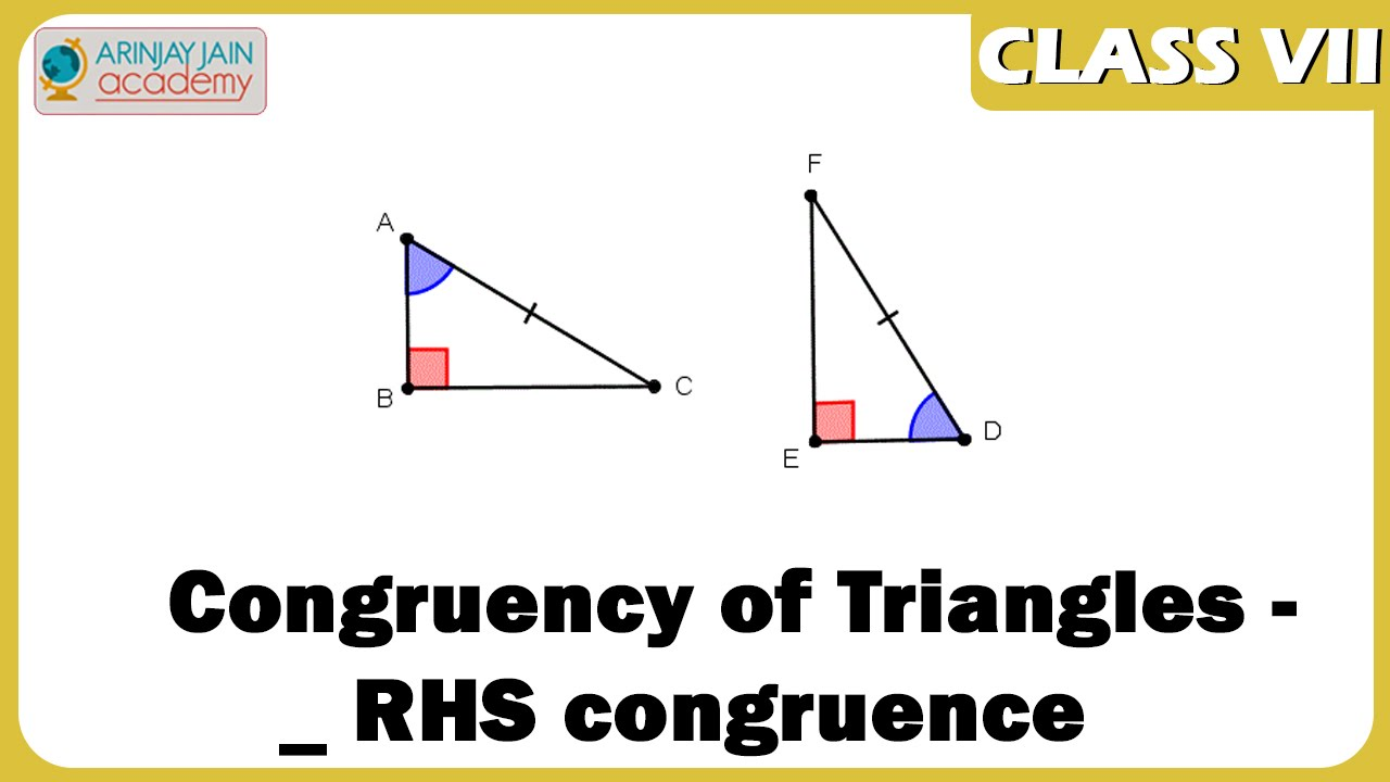 Congruency Of Triangles