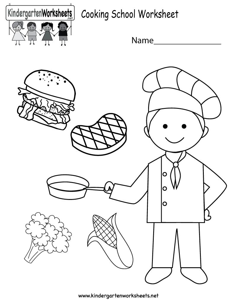 Cooking School Worksheet