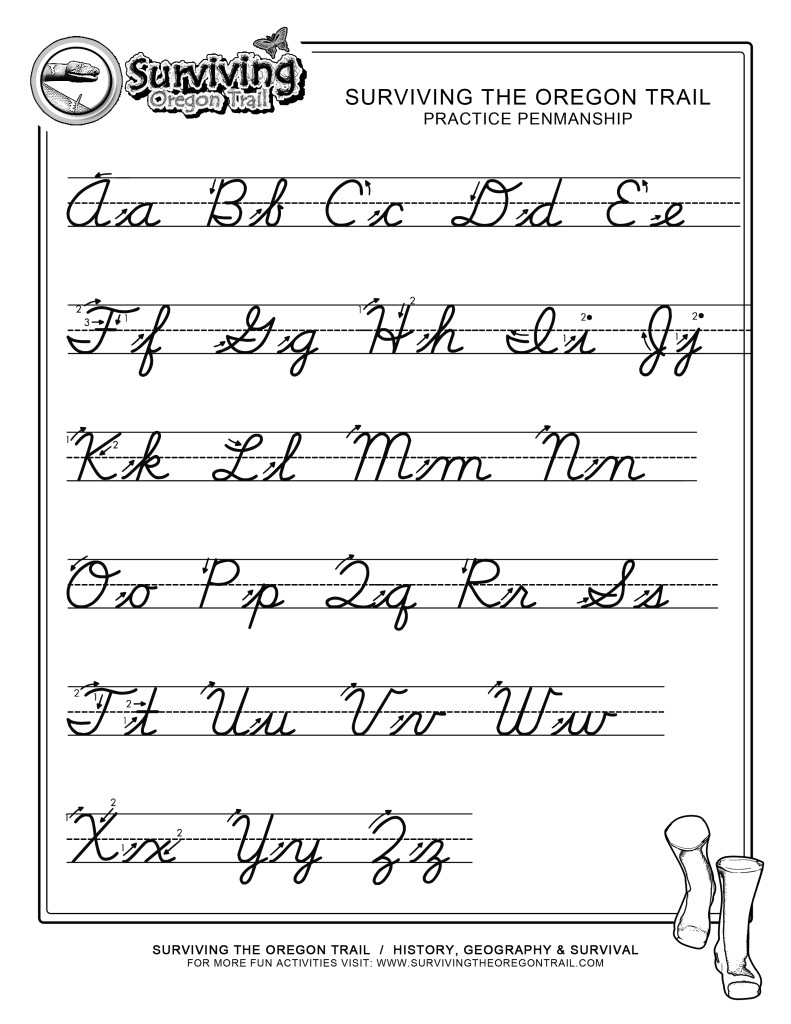 Cursive Worksheets For 3rd Grade Free Worksheets Library