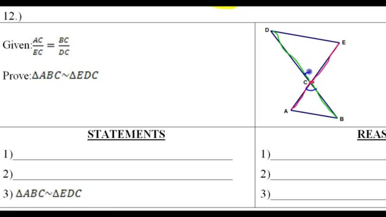 Day 6 Hw  10 To  12 Similar Triangle Word Problems And Proofs