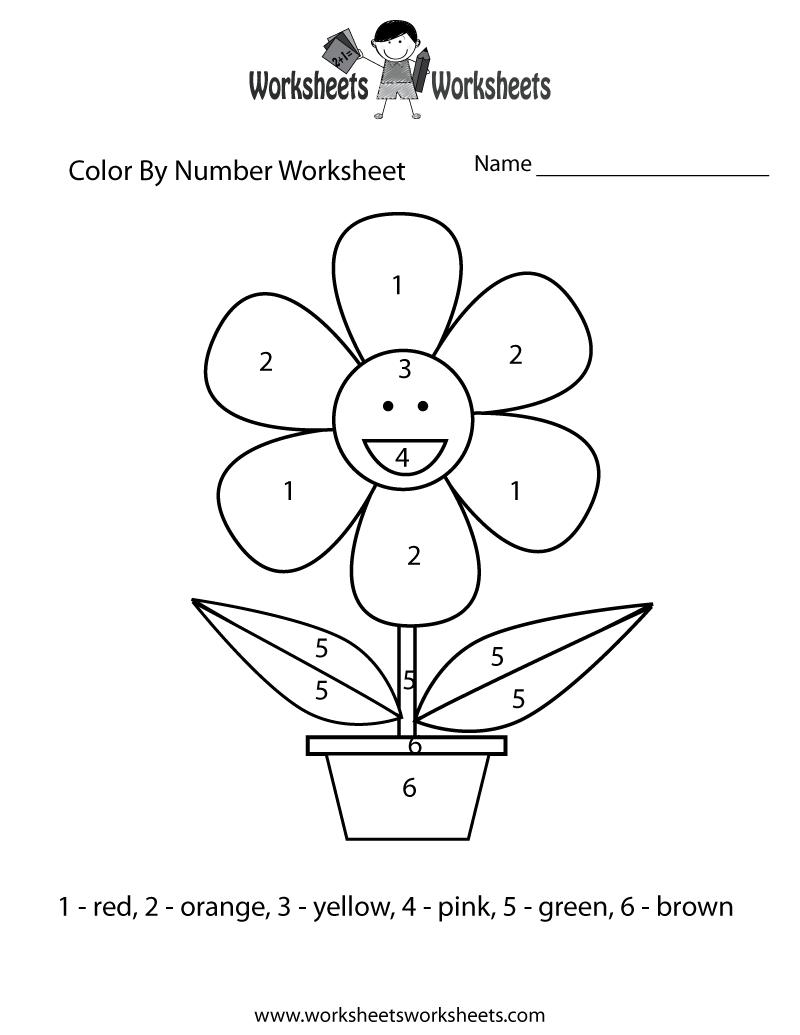 Easy Color By Number Worksheet