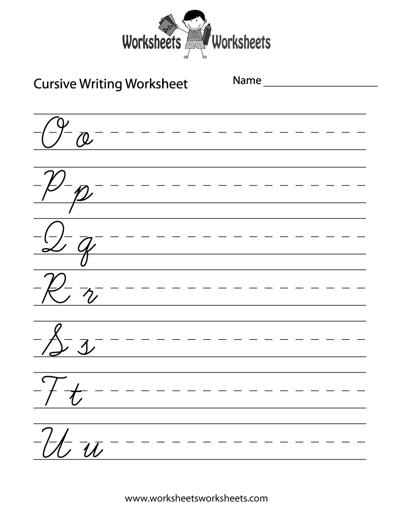 Easy Cursive Writing Worksheet Printable