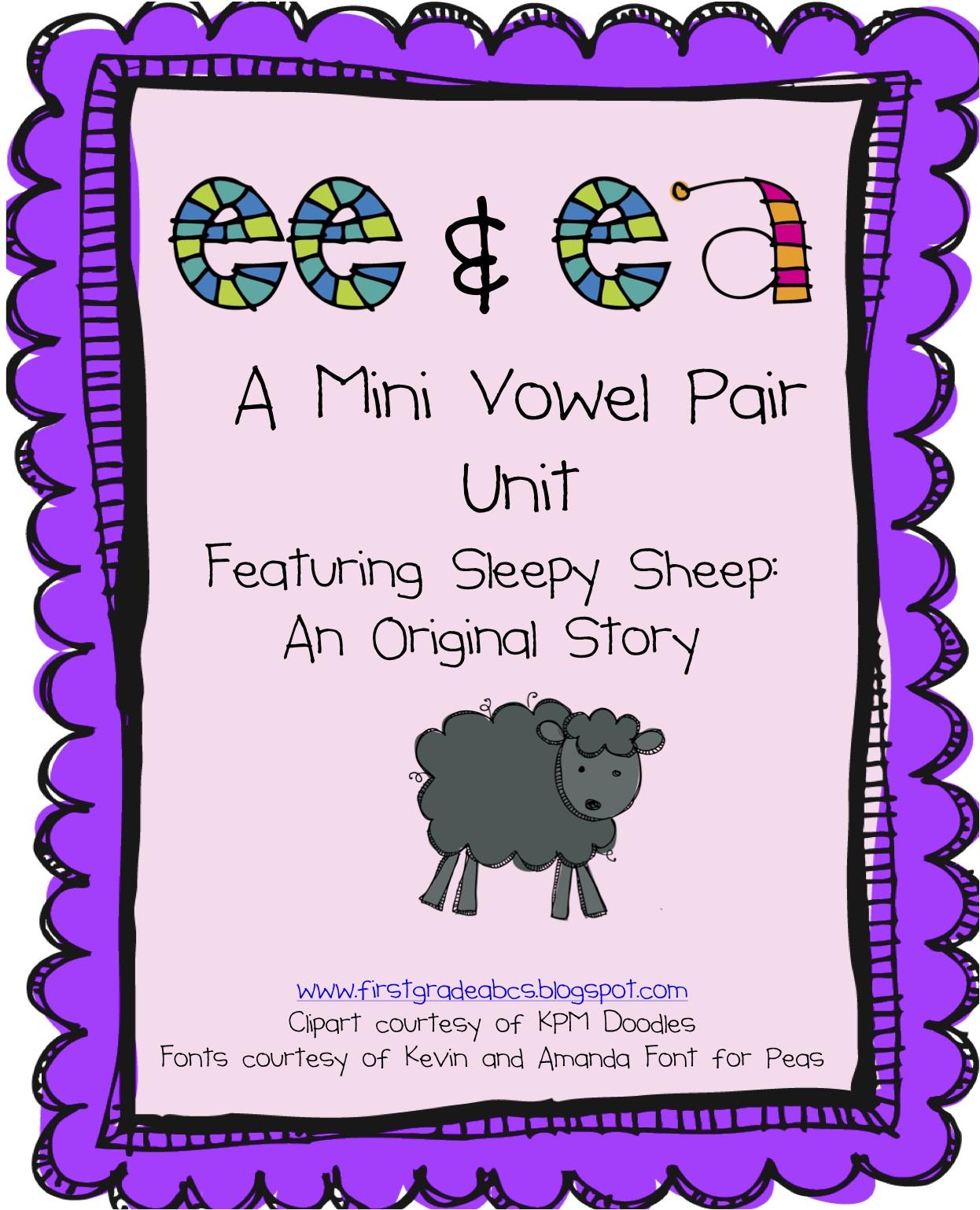 Ee Ea Vowels First Grade
