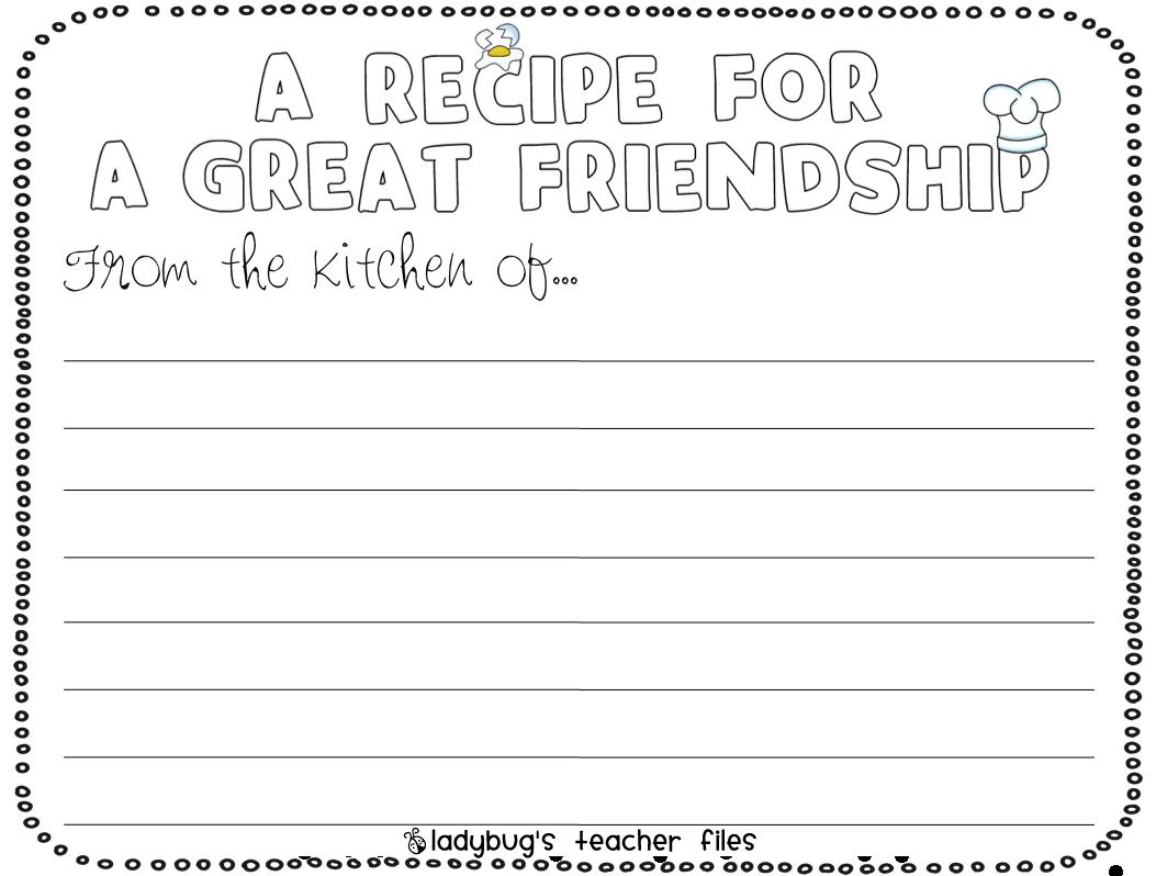 Enemy Pie (friendship) Writing Activities