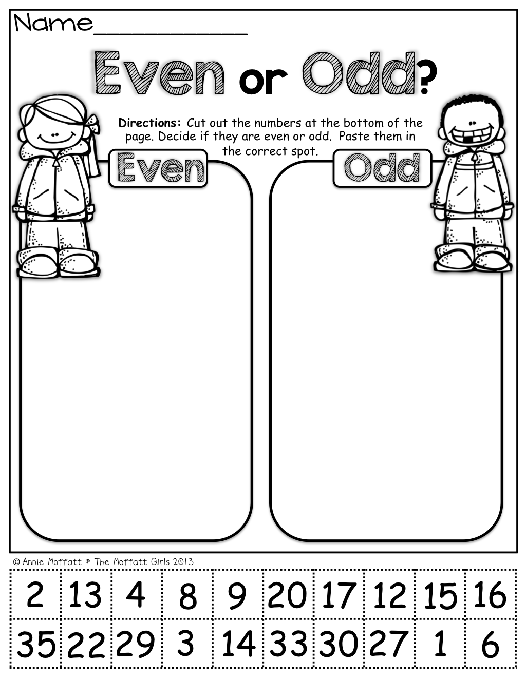 Even Or Odd (cut And Paste) …