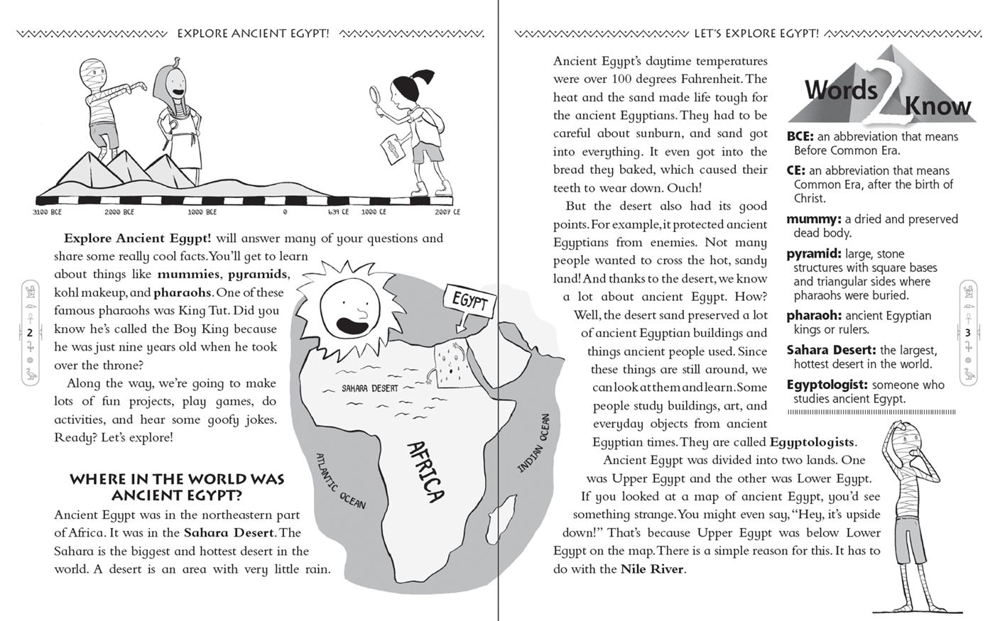 Ancient Egypt Worksheets For Kids