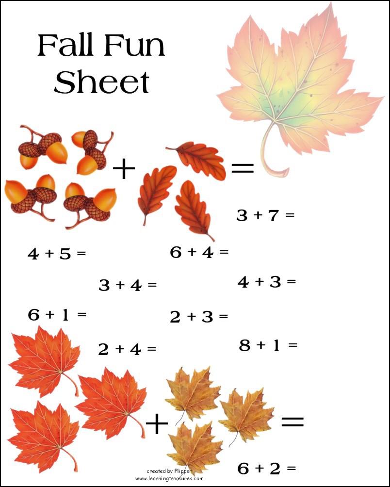Fall Math Worksheet!
