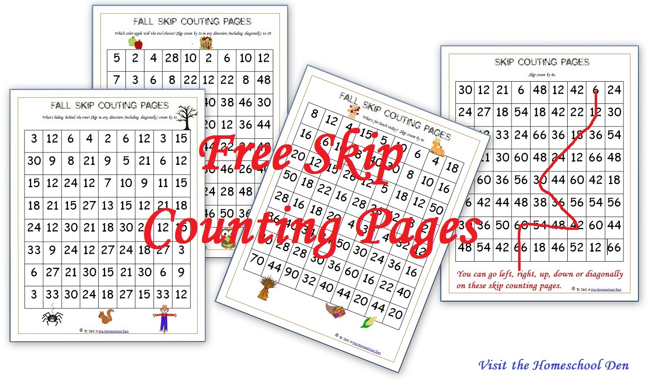Fall Skip Counting Pages For 2s, 3s, 4s, 5s, 6s (free