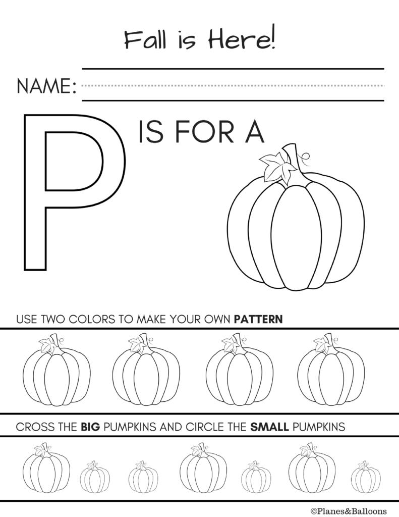 Fall Worksheets Kindergarten Printable For Free