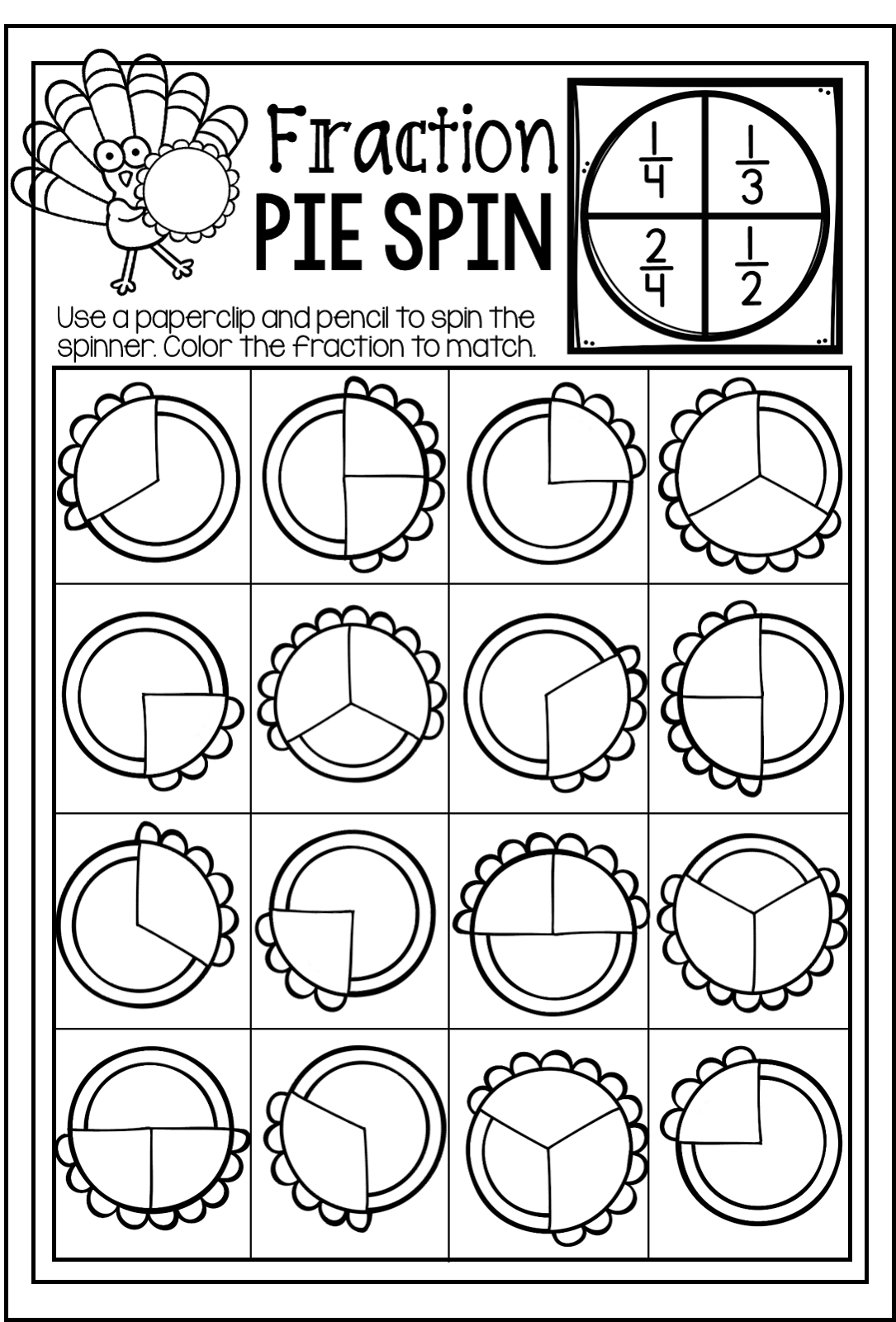 Fantastic Thanksgiving Themed Math Worksheets Images