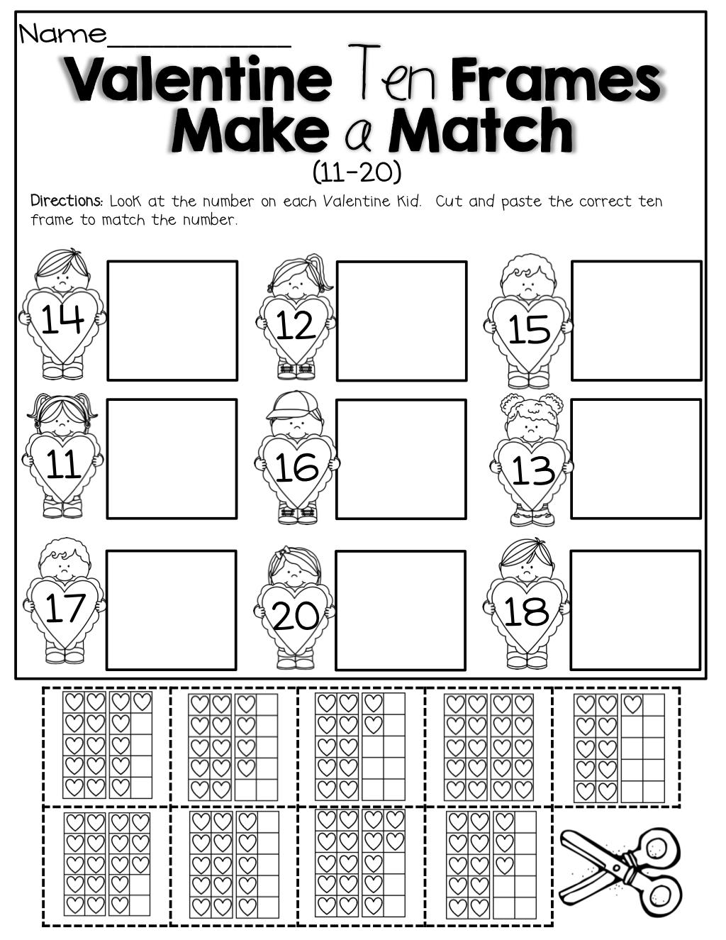 February No Prep Packet (kindergarten)