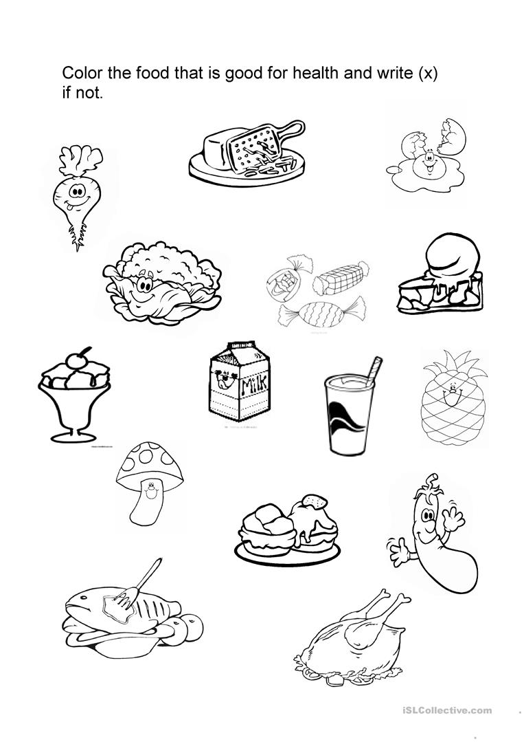 Food Good For Health Worksheet