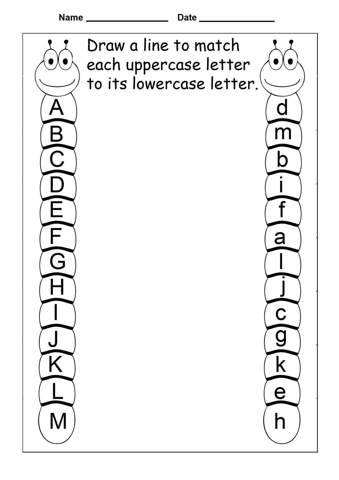 Free Abc Worksheets For Pre K Activity Shelter Kindergarten Mat