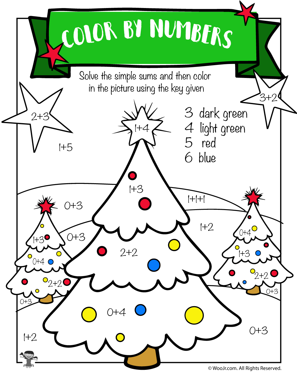 Free Printable Christmas Math Worksheets  Pre K, 1st Grade & 2nd