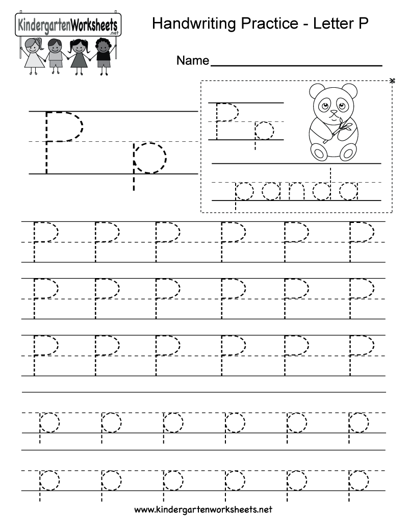 Free Printable Letter P Writing Practice Worksheet For Kindergarten
