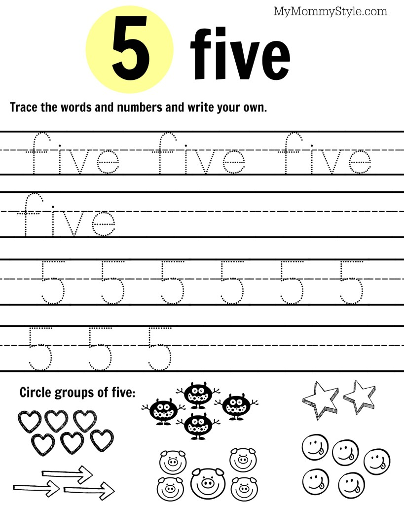 Free Printable Number Worksheets 1