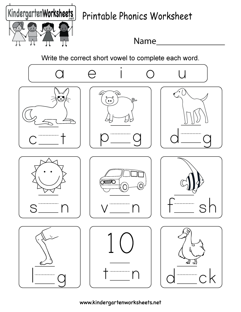Free Printable Phonics Worksheets For Kindergarten