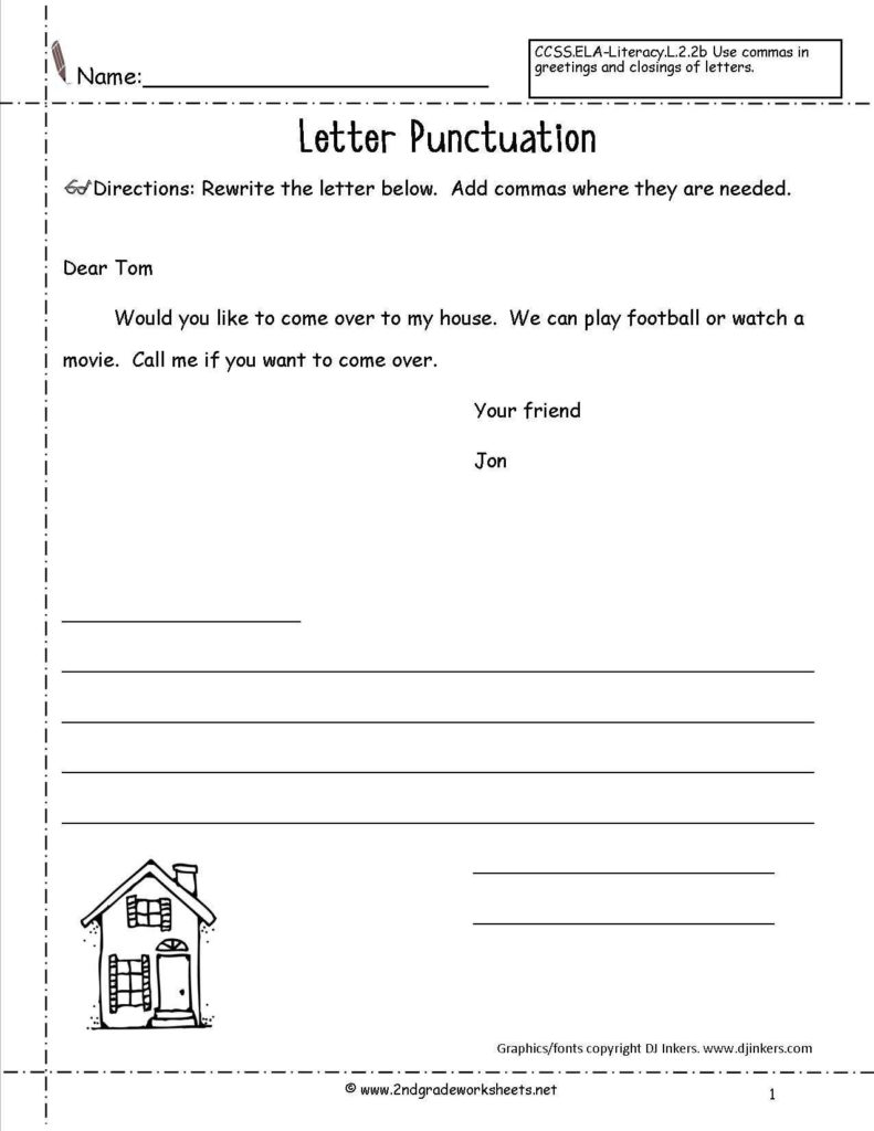 Free Printable Writing Worksheets For 3rd Grade And Letters And
