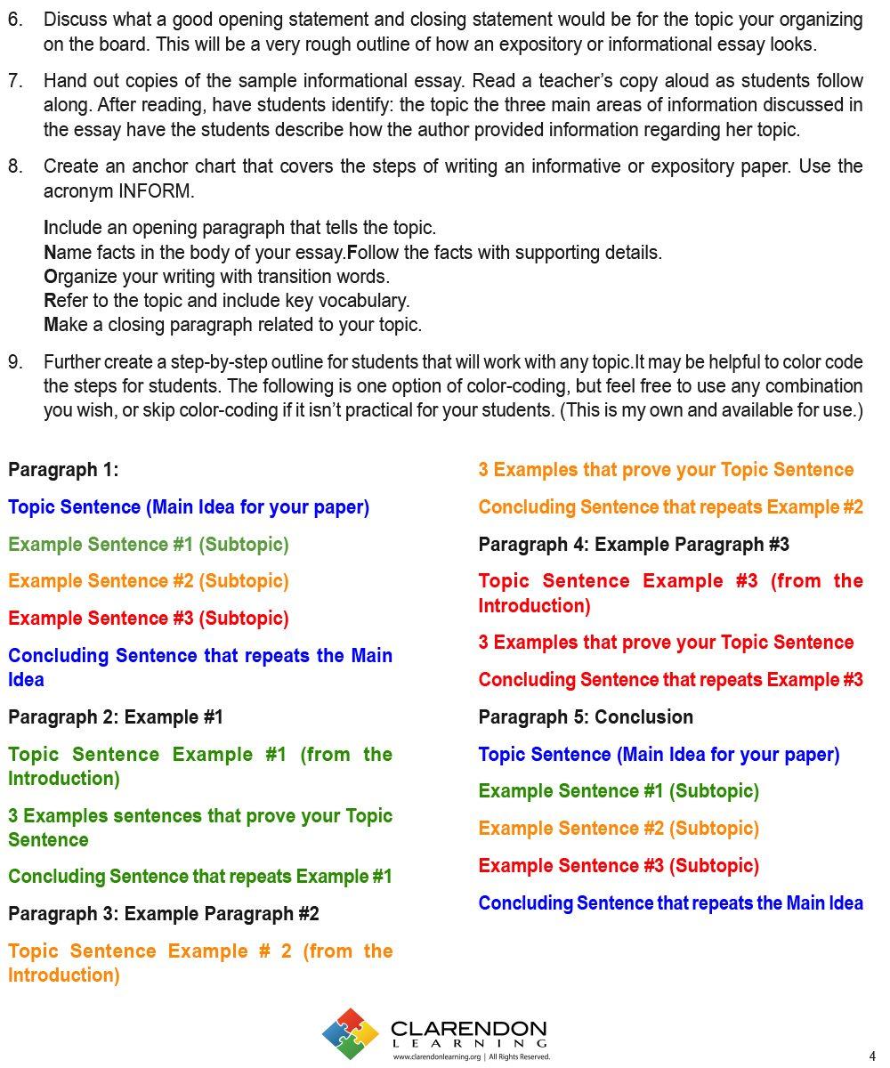 Informative Writing Lesson Plan