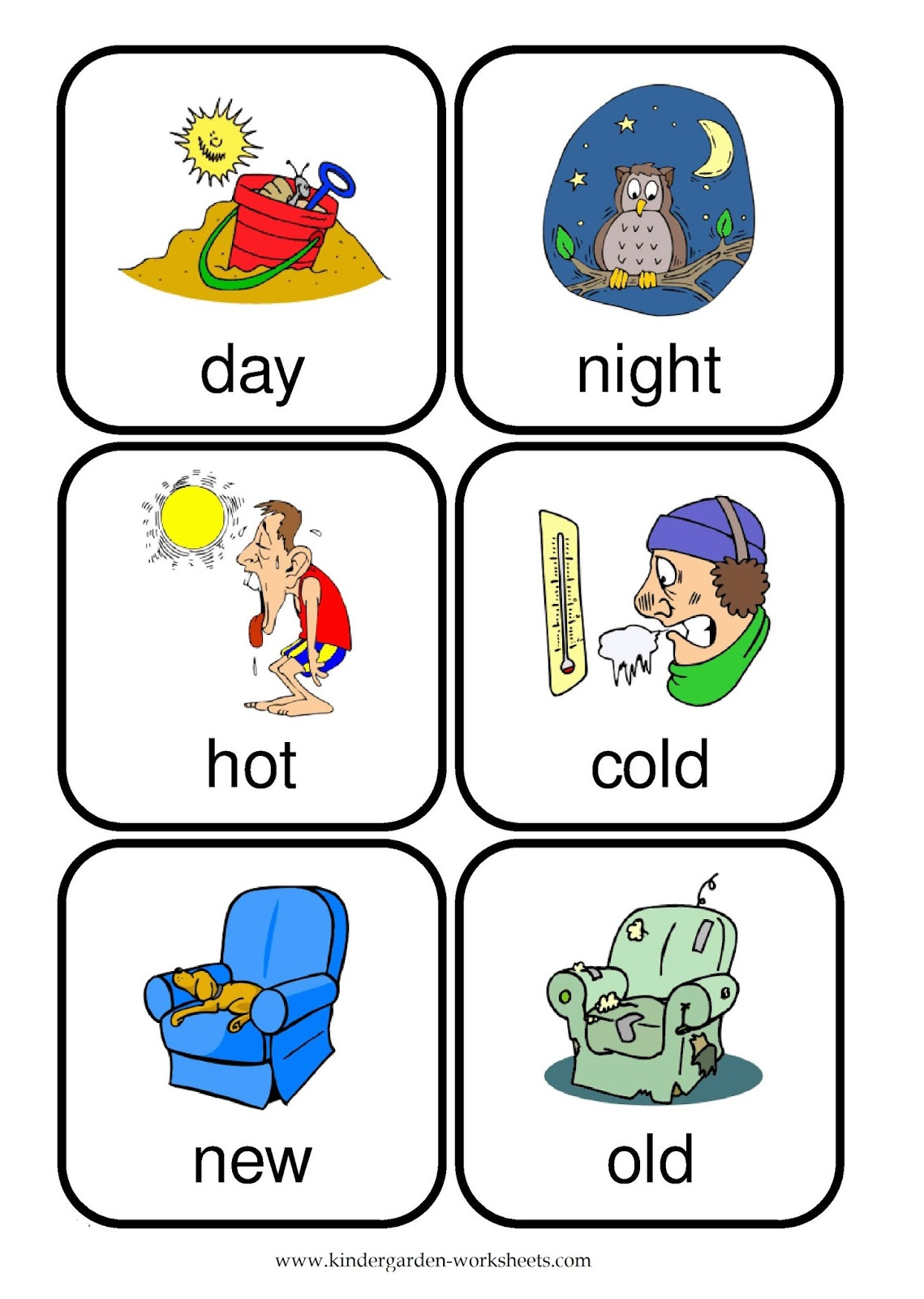 Kindergarten Worksheets  Flashcards