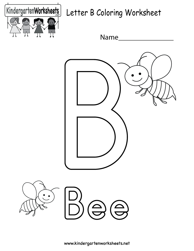 Letter B Coloring Worksheet  This Would Be A Fun Coloring Activity