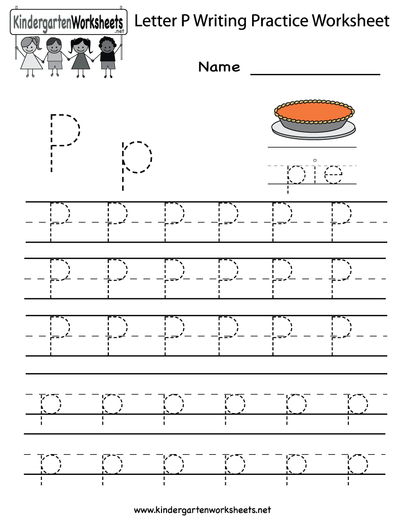 Letter P Worksheets For Preschool Kindergarten Printable