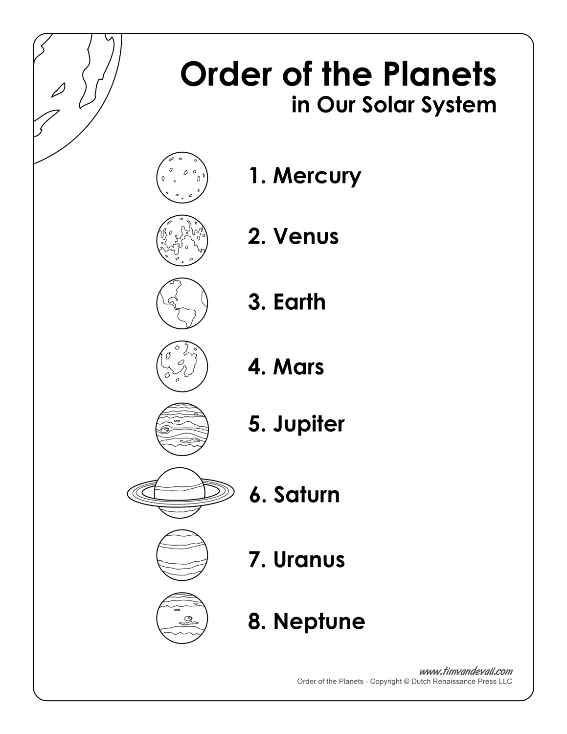 List Of Planets In Order