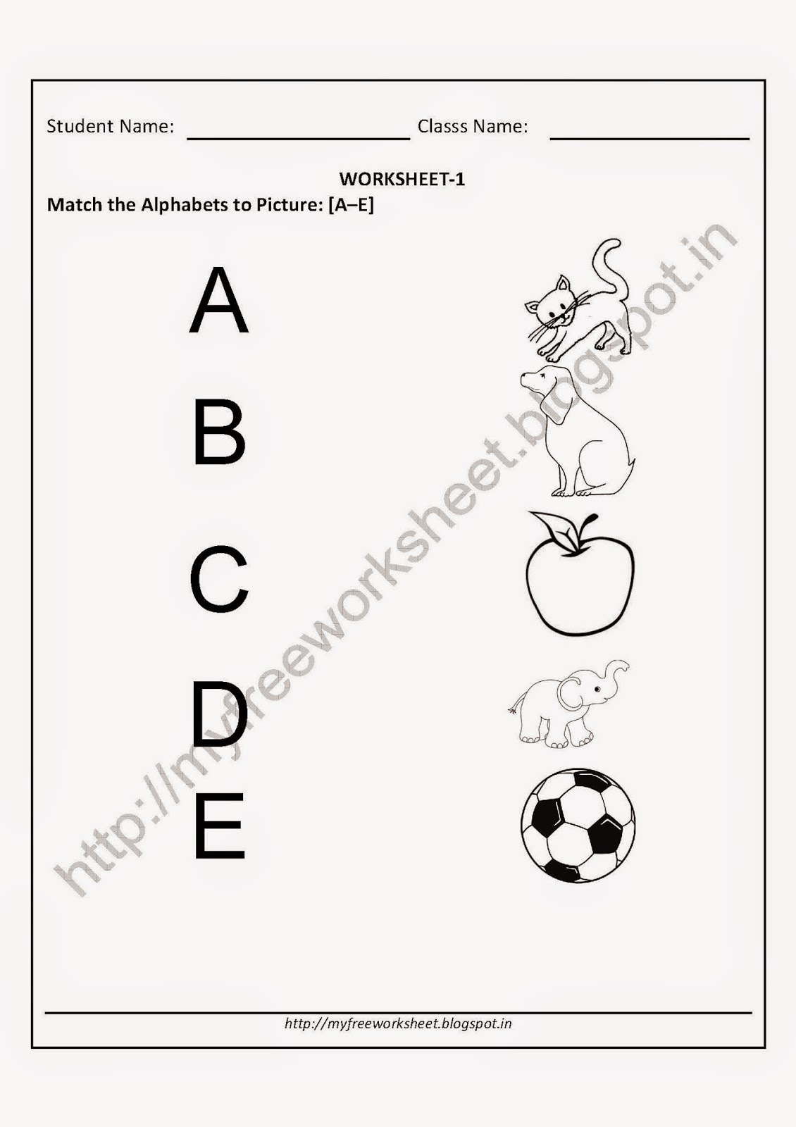 Magnificent Nursery Preschool Worksheet Children Match The