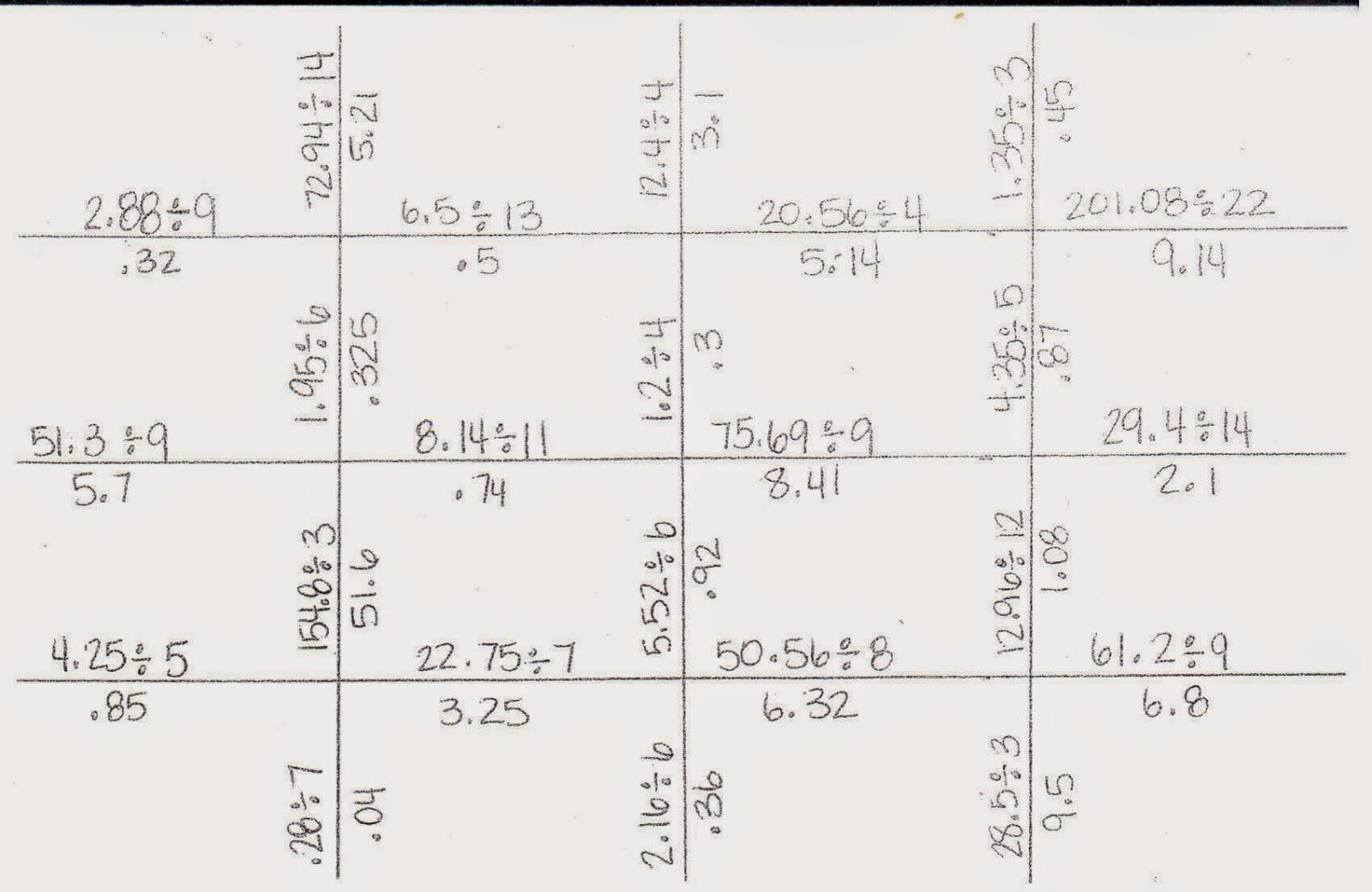 Mrs  White's 6th Grade Math Blog  Dividing Decimals By Whole