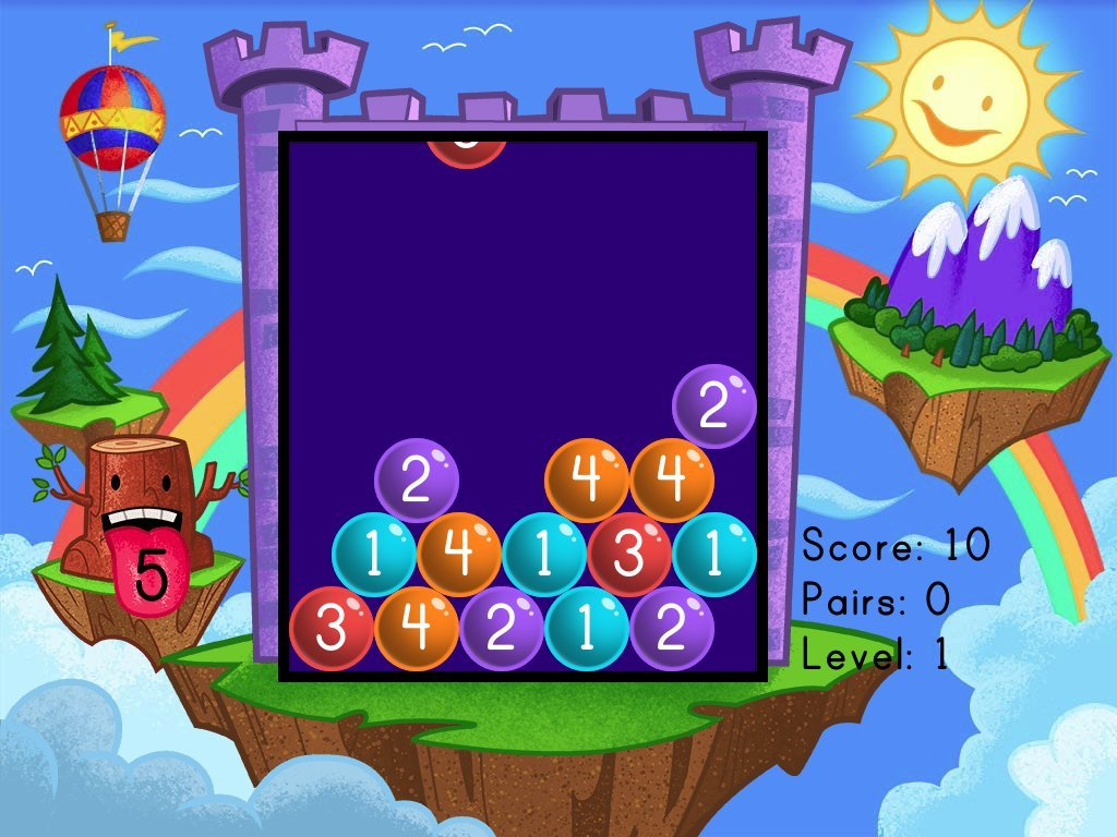 Number Pairs Bubble Buster  Set 1