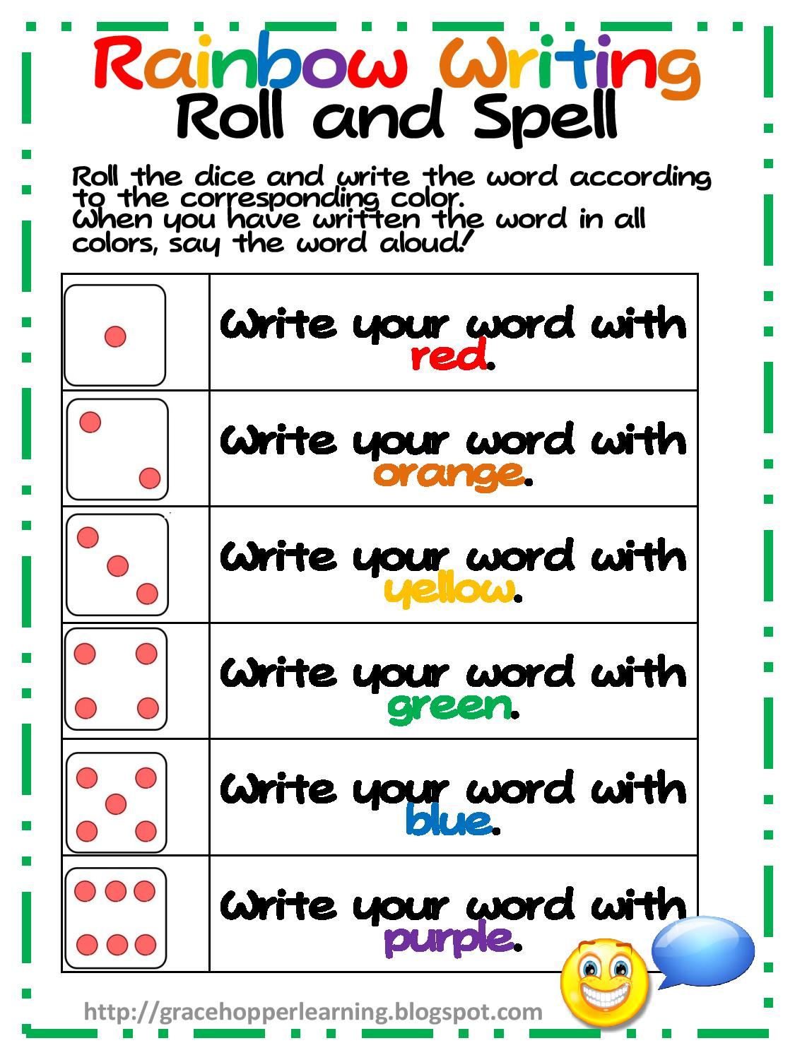 Phillips' Phaves  Rainbow Writing Freebie