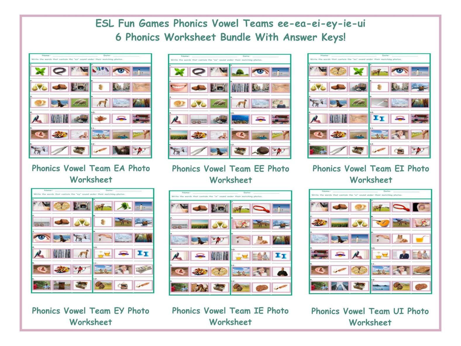 Phonics Vowel Teams Ee