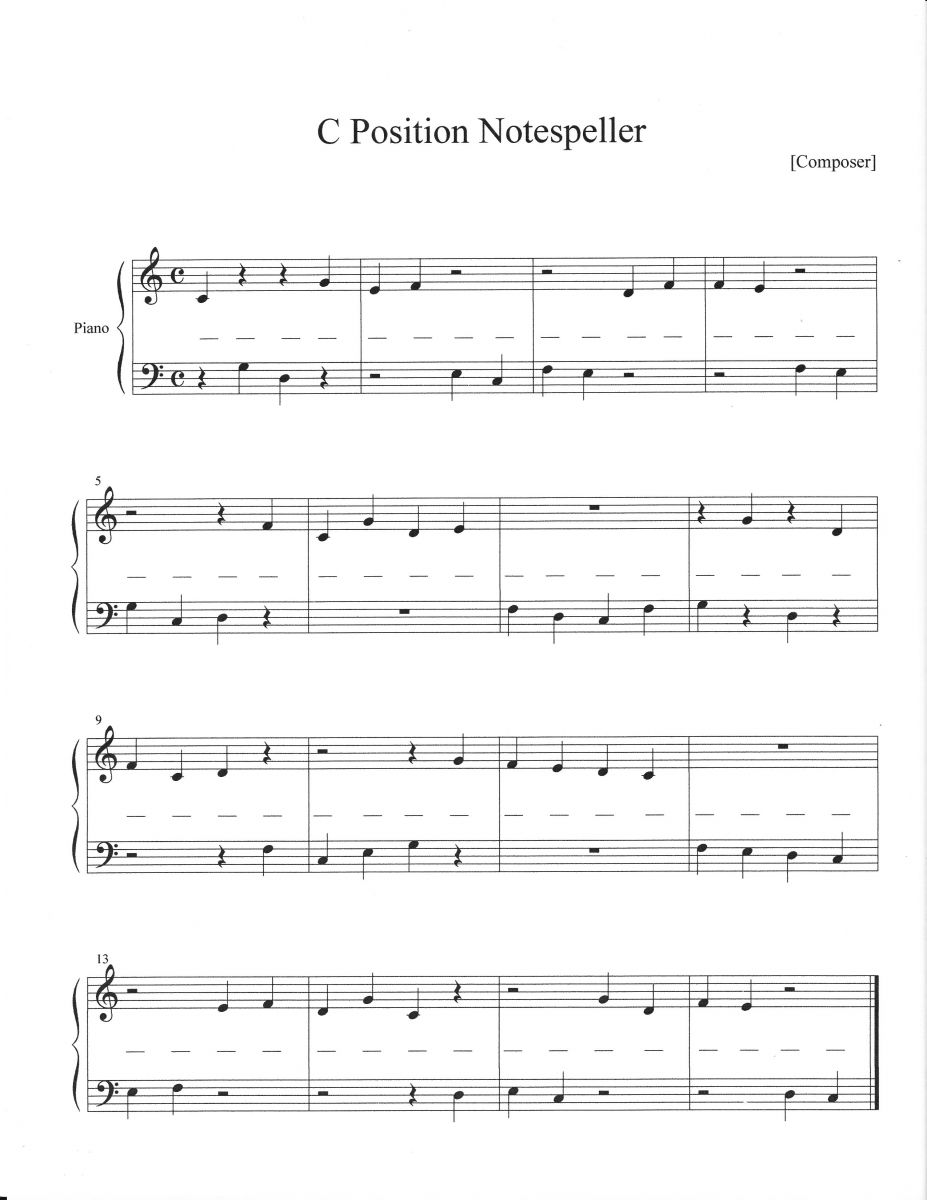 Piano Notes Worksheet Free Worksheets Library