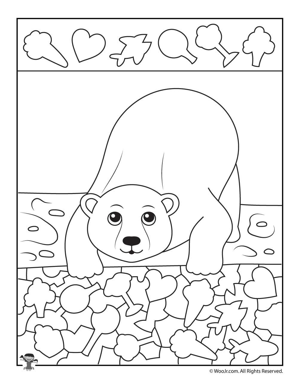 Polar Bear I Spy Printable Worksheet