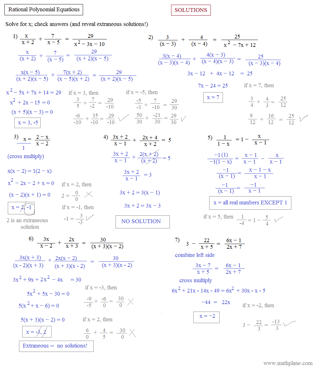Polynomial Equations Worksheet Free Worksheets Library