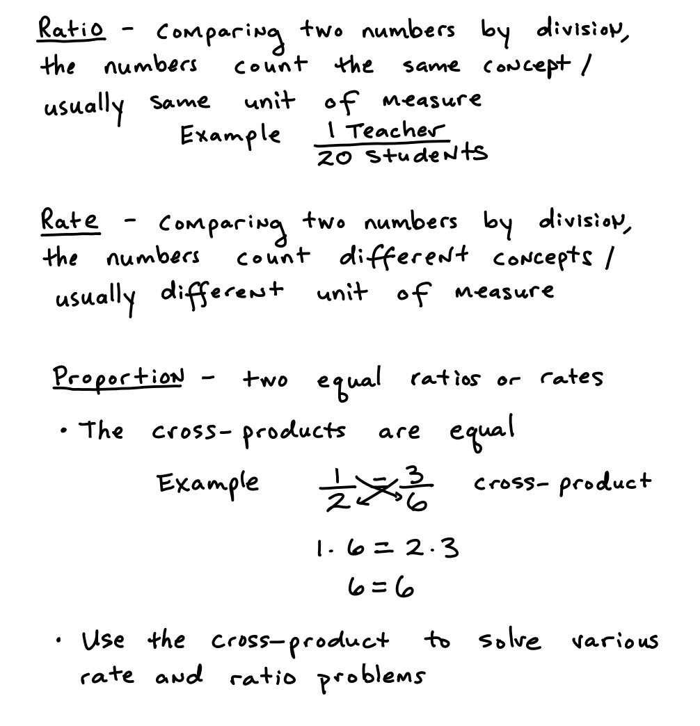 Pre Algebra Chapter 6 Ratios, Proportions, And Percents
