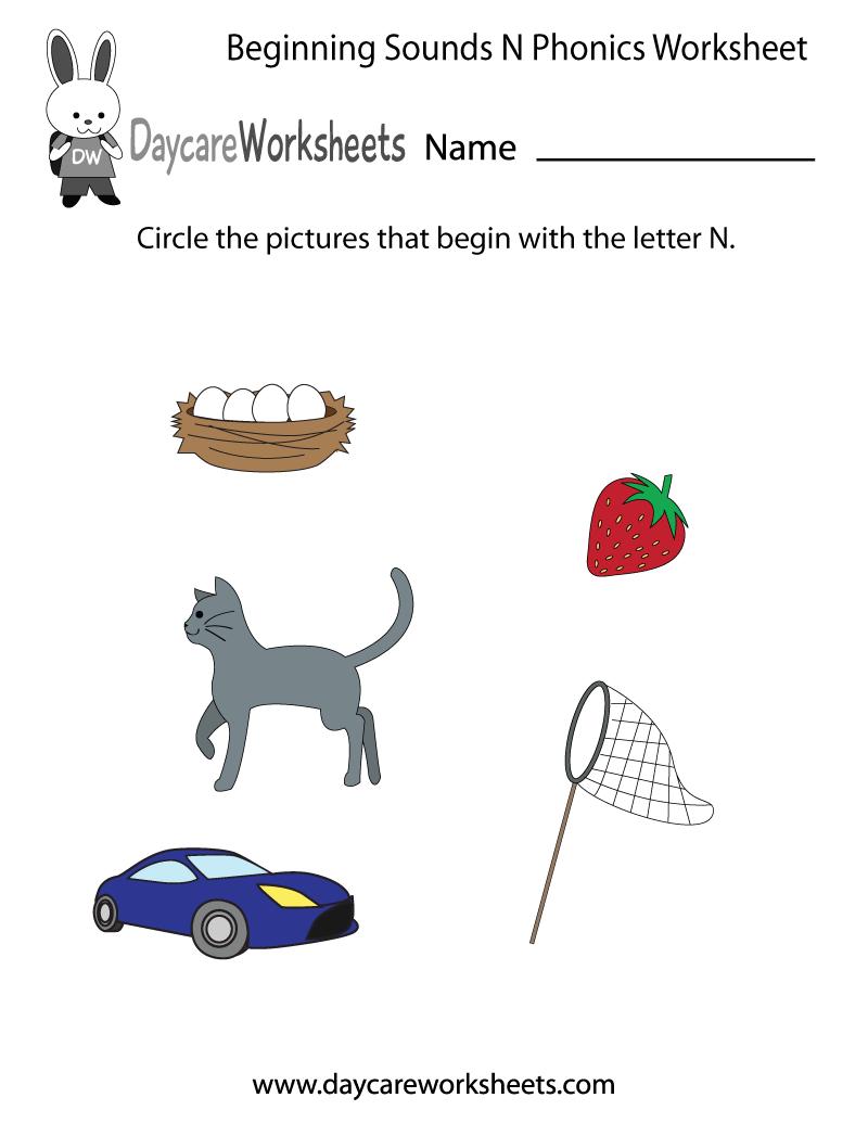Preschool English Worksheets