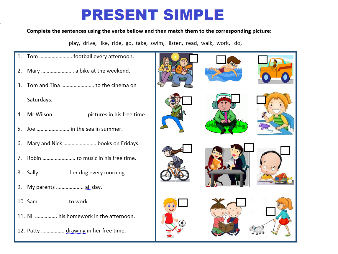 Present Simple Tense By Mariapht